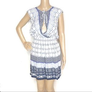 Chelsea & Violet Blue & White mini dress E5